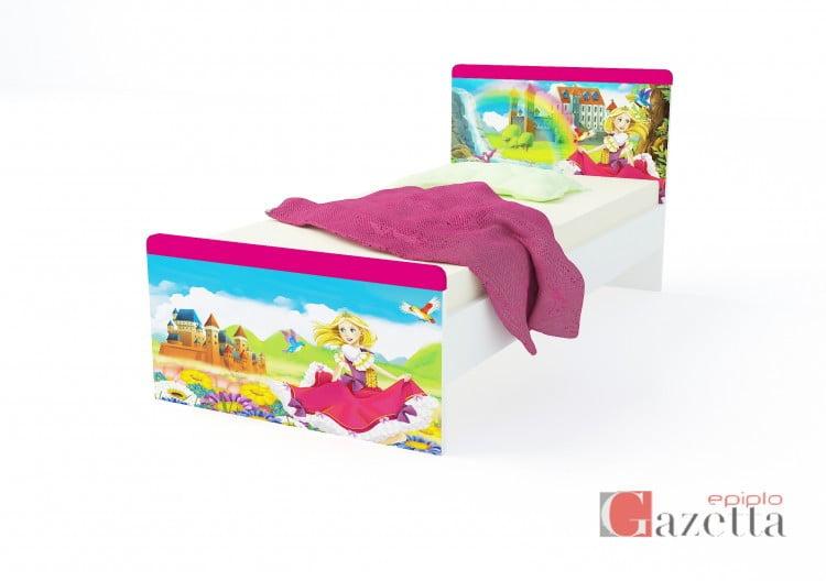 Παιδικό κρεβάτι STAMP σχέδιο PRINCESS