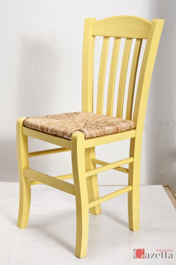 Καρέκλα Casa λάκα ψάθα