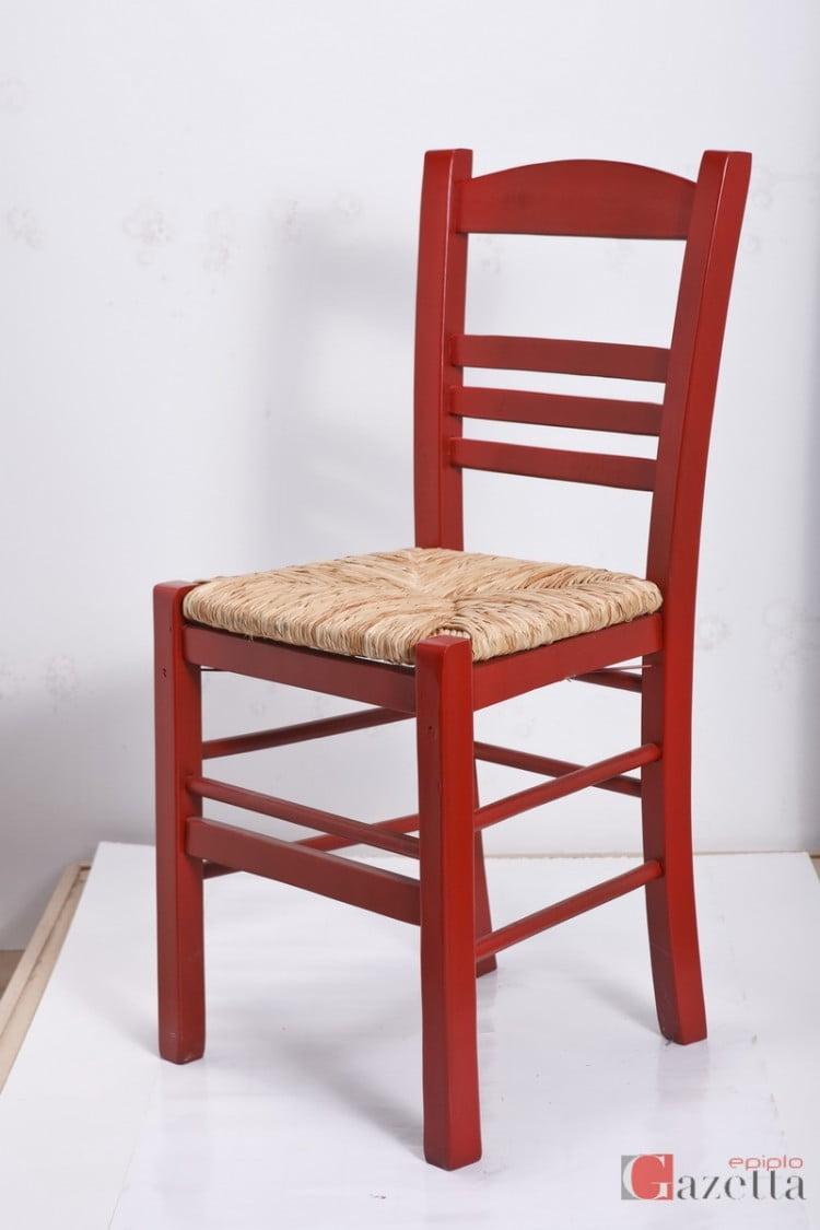 Καρέκλα επιλοχία ανελίνη κόκκινη