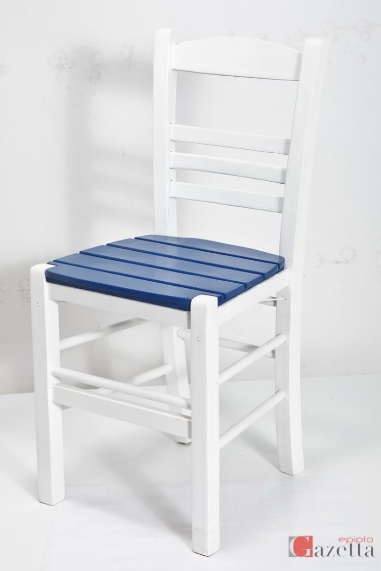Καρέκλα επιλοχία λάκα με ξύλινο πάτο