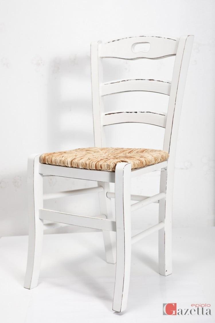 Καρέκλα Κ40 λάκα πατίνα ψάθα