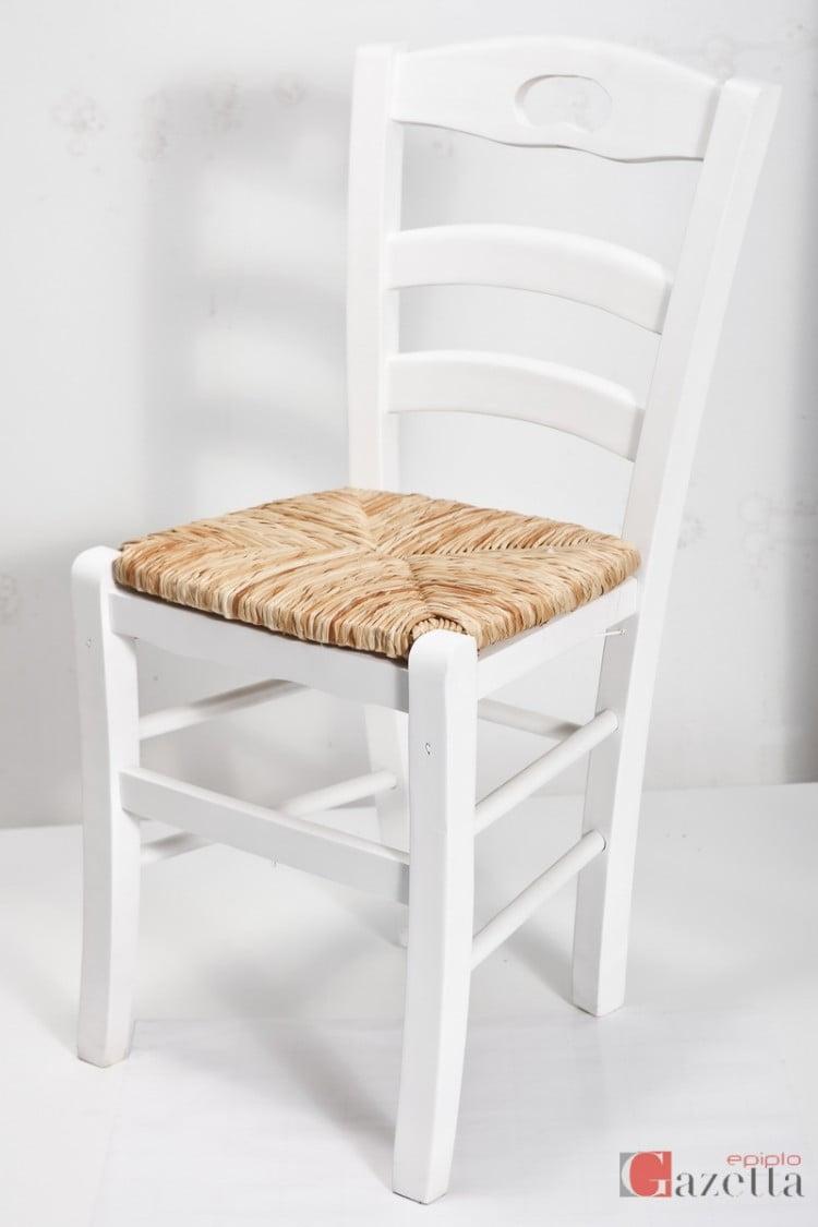 Καρέκλα Κ40 λάκα με ψάθα