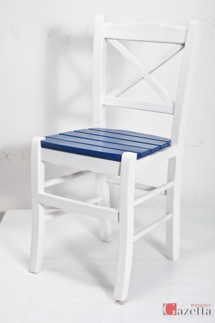Καρέκλα Κ43 λάκα με ξύλινο πάτο