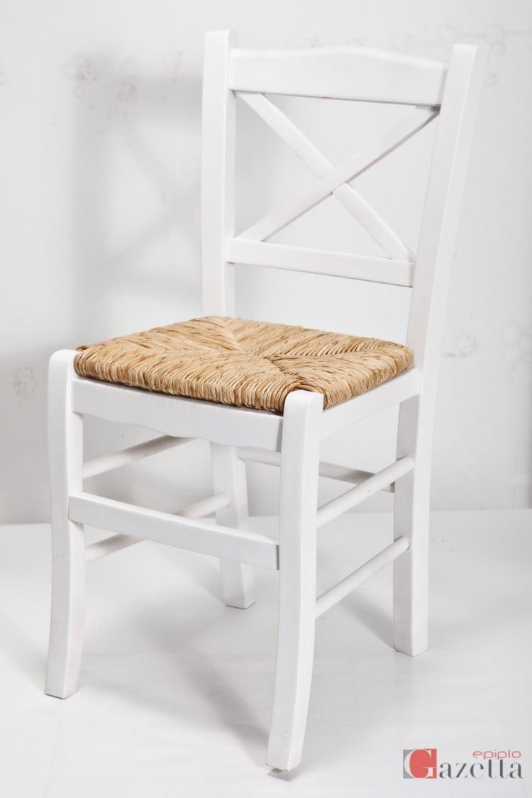 Καρέκλα Κ43 λάκα με ψάθα