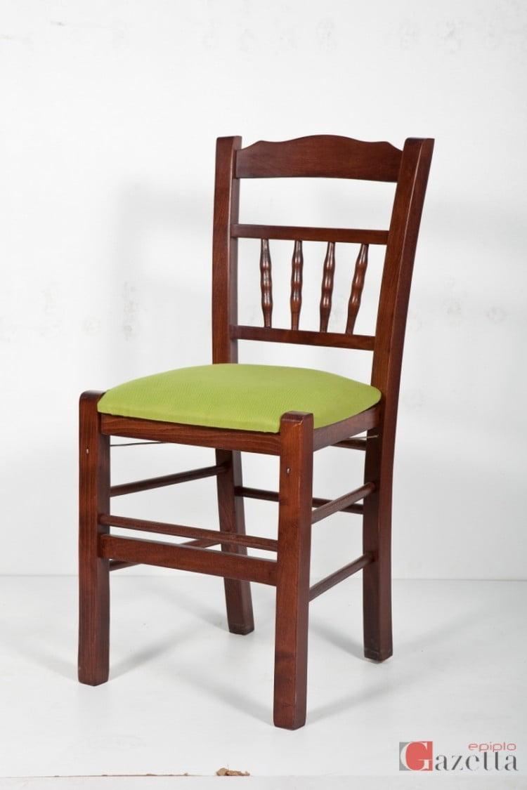 Καρέκλα καγκελάκι με ύφασμα