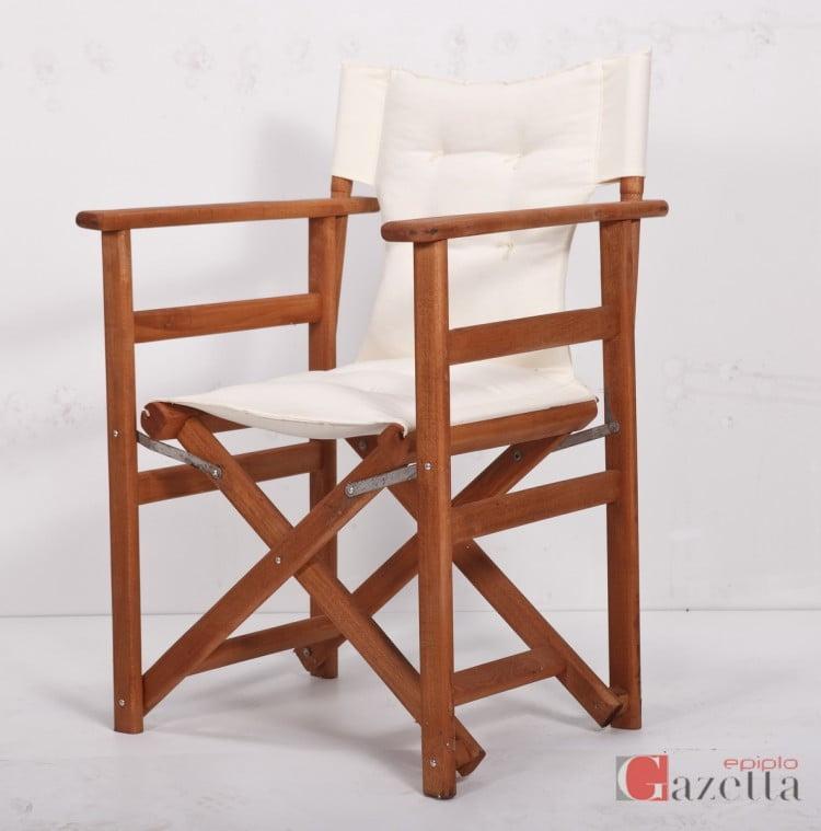 Καρέκλα πολυθρόνα σκηνοθέτη με ύφασμα